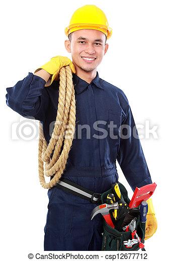 trabajador industrial - csp12677712