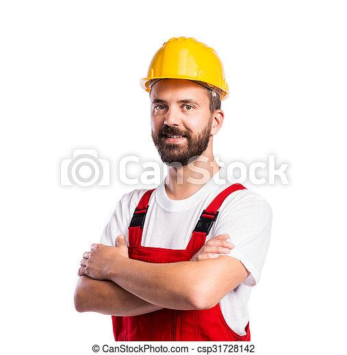 Joven trabajador guapo - csp31728142