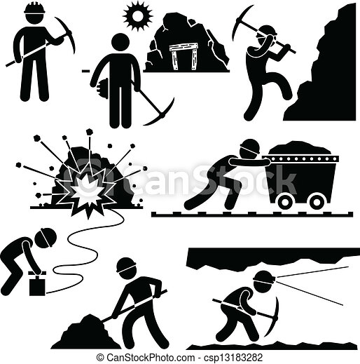 Trabajador minero obrero obrero obrero - csp13183282