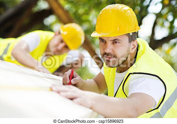 trabajadores, construcción - csp15896923