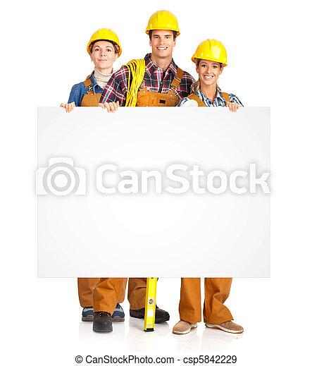 trabajadores, contratistas, gente - csp5842229