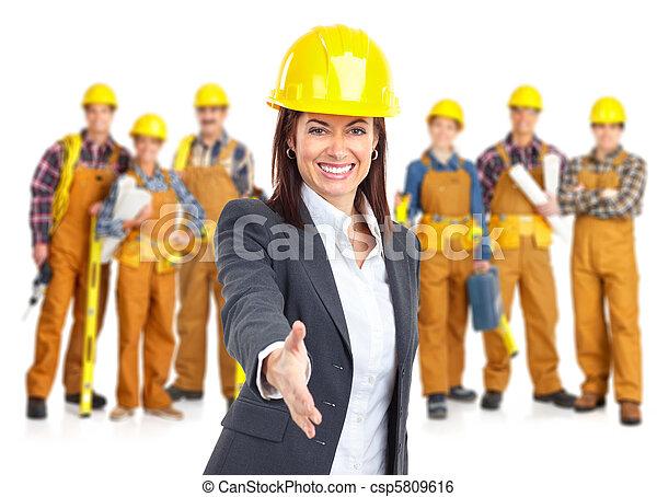 Contratistas trabajadores - csp5809616