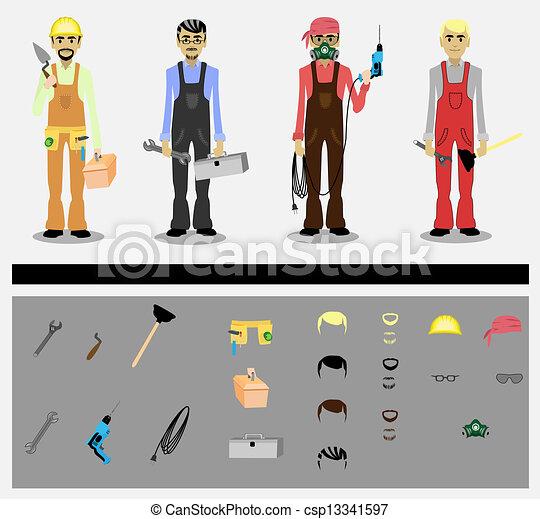 Trabajadores - csp13341597