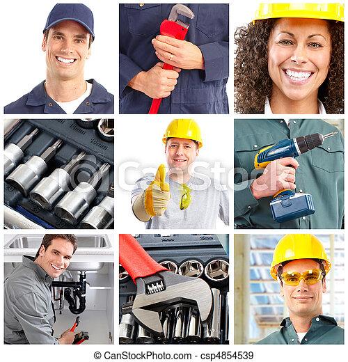 Trabajadores - csp4854539