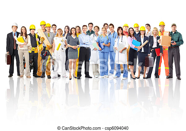 trabajadores, gente - csp6094040
