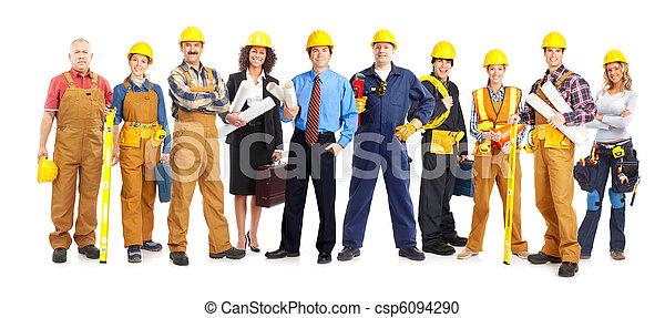 trabajadores, gente - csp6094290