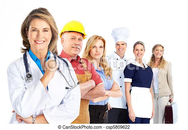 trabajadores, gente - csp5809622