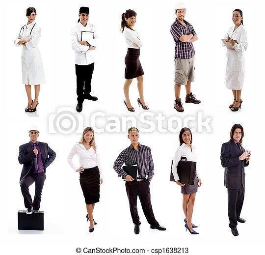 Trabajadores, grupo de gente - csp1638213