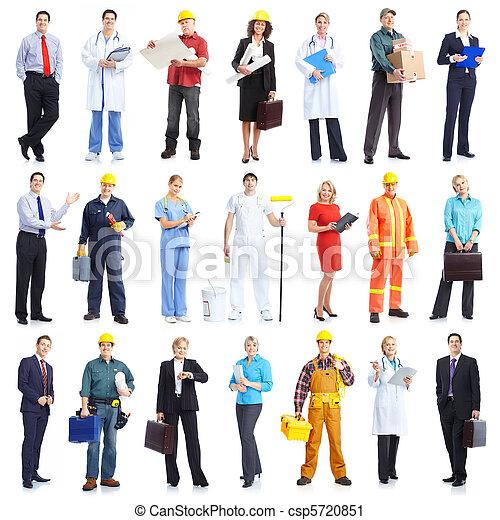 trabajadores, gente - csp5720851