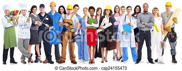 Grupo de trabajadores de negocios. - csp24155473