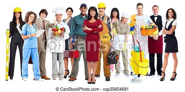 trabajadores, group., gente - csp35654681