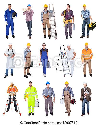 trabajadores industriales, construcción - csp12907510