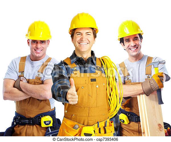 Contratistas trabajadores. - csp7393406