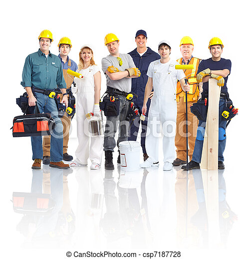 trabajadores, personas., contratistas - csp7187728