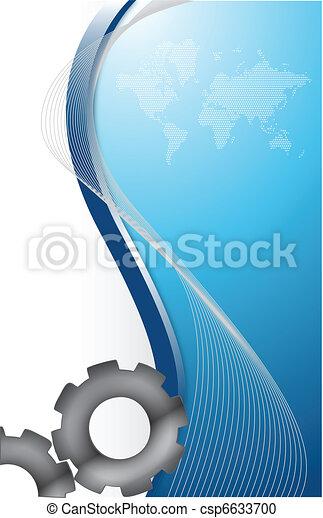 trabajando, engranaje, juntos, pedazos - csp6633700
