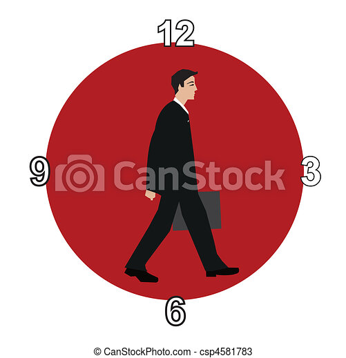 Horas de trabajo - csp4581783
