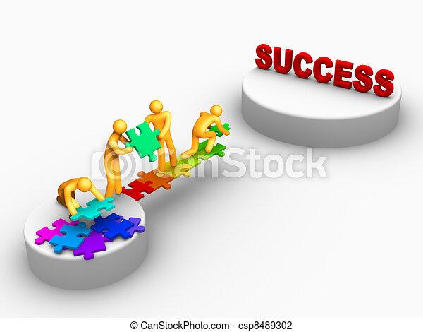 Trabajo en equipo para el éxito - csp8489302