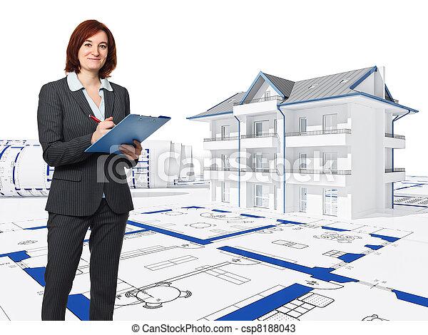 Trabajo arquitecto casa azul arquitecto plano de fondo for Trabajo de arquitecto