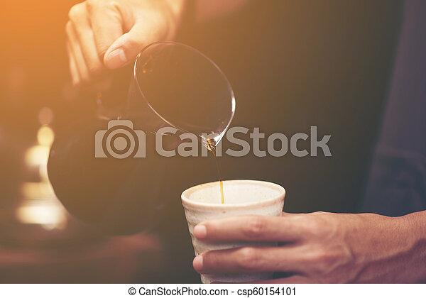 Hora del café del concepto de trabajo de negocios - csp60154101