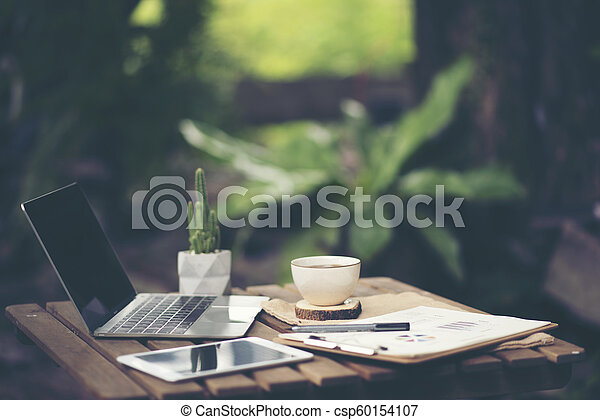 Hora del café del concepto de trabajo de negocios - csp60154107