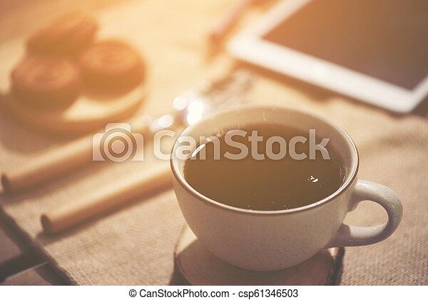Hora del café del concepto de trabajo de negocios - csp61346503