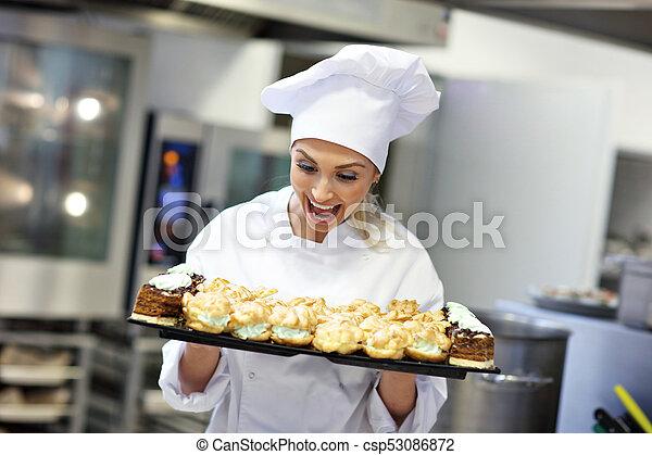 Captivating Trabajo, Chef, Ocupado, Cocina, Restaurante