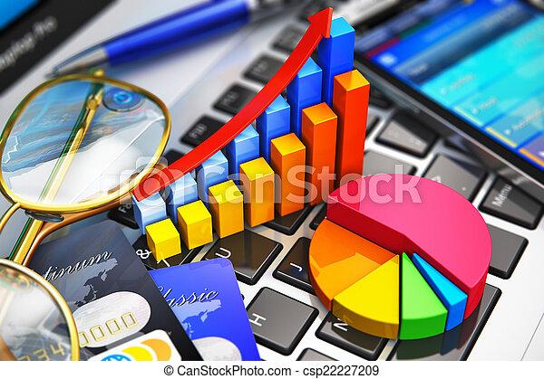Trabajo de negocios y el concepto de análisis financiero - csp22227209