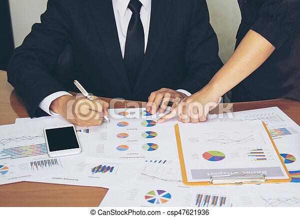 Un concepto de trabajo de negocios - csp47621936