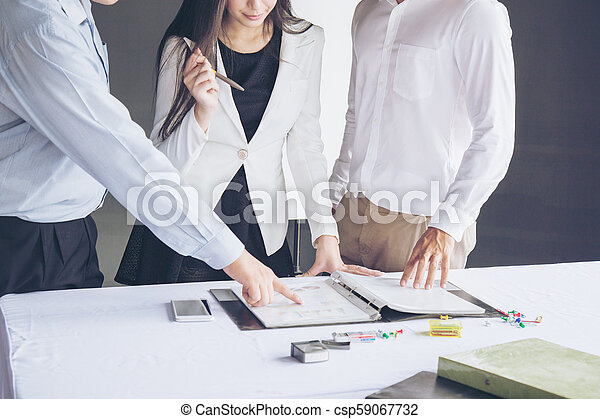 Un concepto de trabajo de negocios - csp59067732