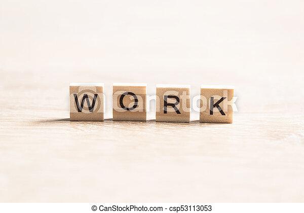 Un concepto de trabajo de negocios - csp53113053
