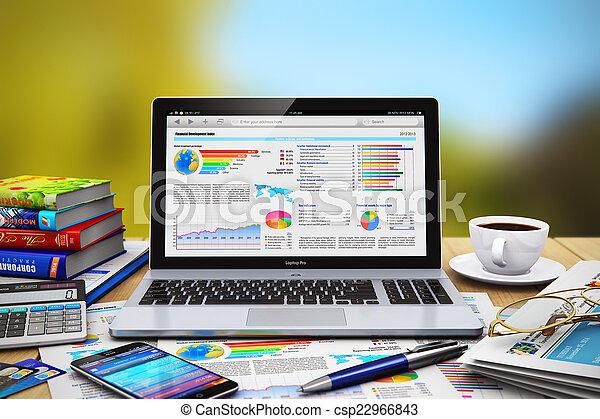 Un concepto de trabajo de negocios - csp22966843