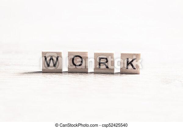 Un concepto de trabajo de negocios - csp52425540
