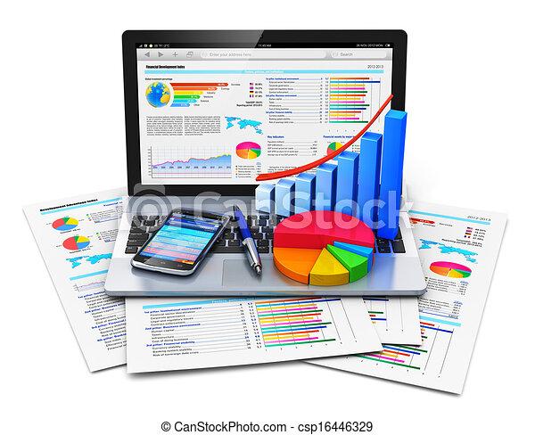 El concepto de trabajo de oficina móvil - csp16446329