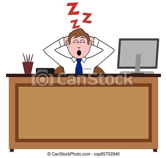 Durmiendo en el trabajo - csp65702940