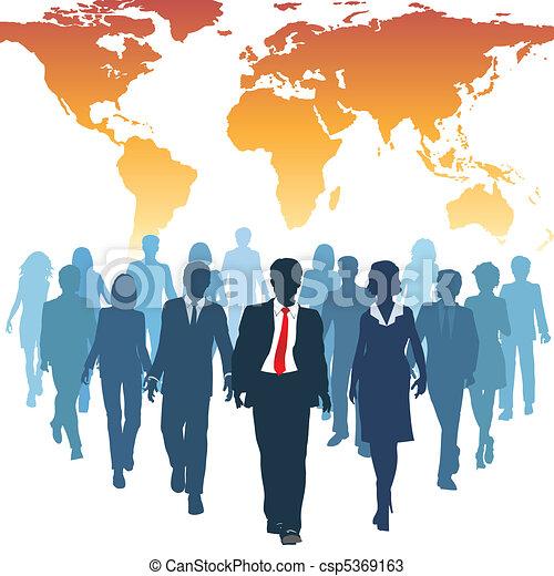 La gente de recursos humanos globales trabaja en equipo - csp5369163