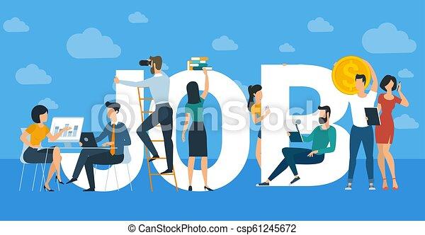 Pancarta de trabajo en equipo creativa - csp61245672