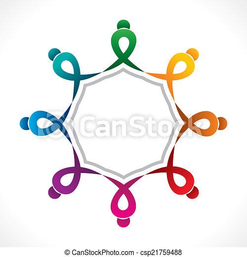 Diseño de iconos de trabajo en equipo creativo - csp21759488