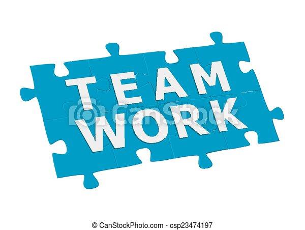 Trabajo en equipo - csp23474197