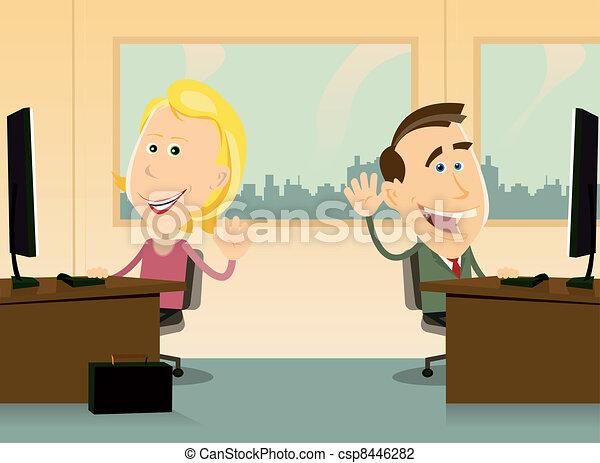 Trabajo de equipo en la oficina - csp8446282