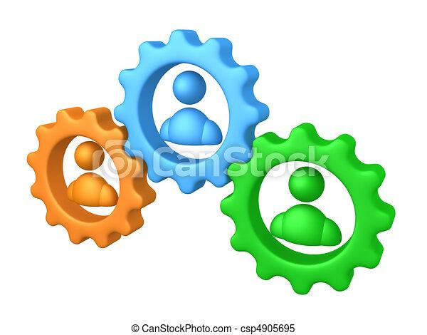 Trabajo en equipo - csp4905695