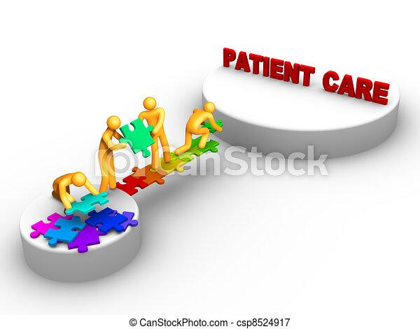 Trabajo en equipo para cuidados de pacientes - csp8524917