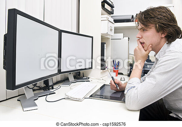 En el trabajo - csp1592576
