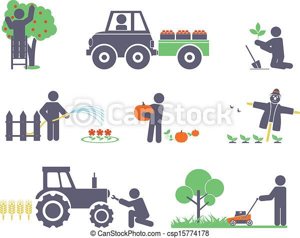 Trabaja en el jardín - csp15774178