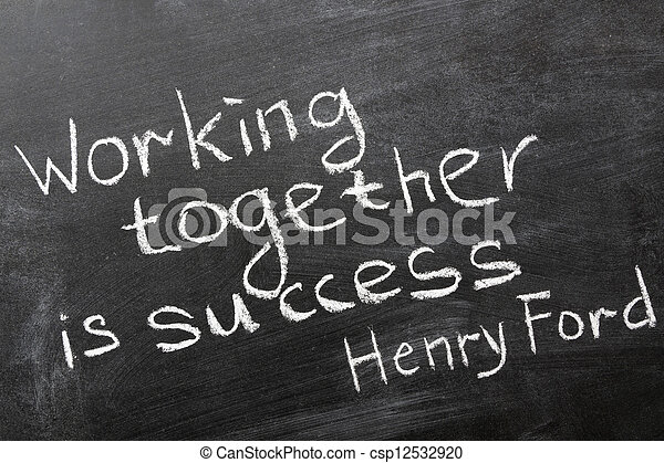 Trabajando juntos - csp12532920