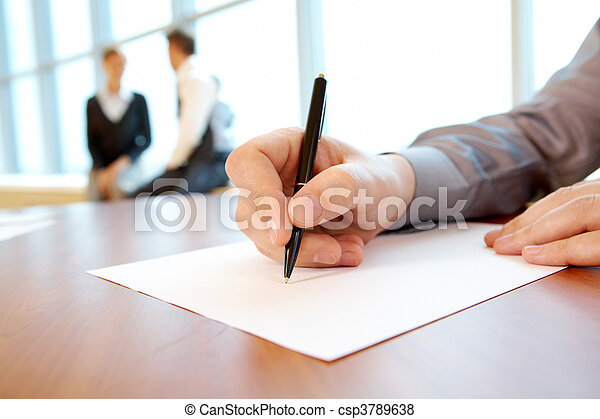 trabajo, plan, escritura - csp3789638