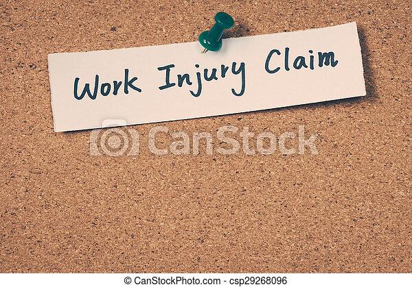trabajo, reclamo, lesión - csp29268096