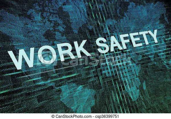 Trabajo seguro - csp36399751