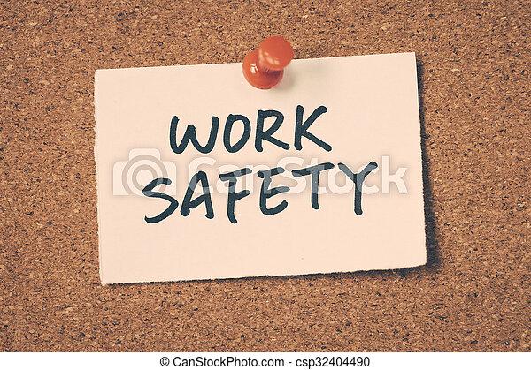 Trabajo seguro - csp32404490