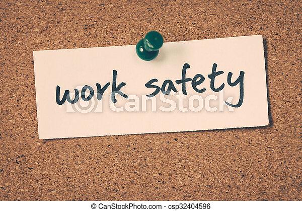 Trabajo seguro - csp32404596