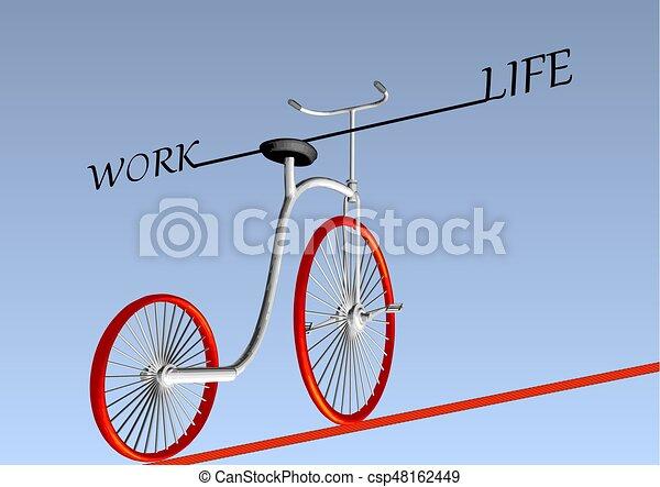 Trabajo equilibrio de vida - csp48162449